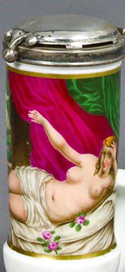 Francesco Albani (1578-1660), Danae, Porzellanmalerei, Pfeifenkopf, B0106