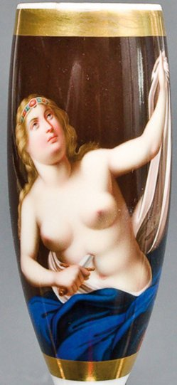 Francesco Trevisani (1656-1746), Lucretia, Porzellanmalerei, Pfeifenkopf, B0108