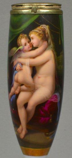 Antonio da Correggio (1489-1534) Amor mit Venus, Porzellanpfeifenkopf, D0887