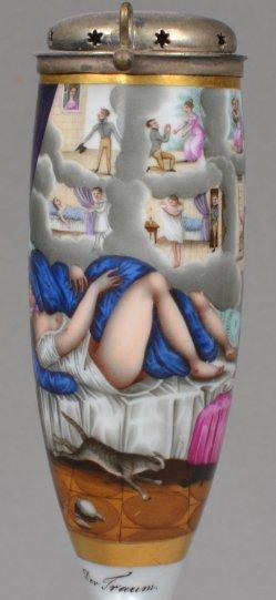 Der Traum, Porzellanmalerei, Erotik, Pfeifenkopf, D0935
