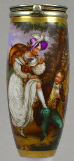 Nicolas-Eustache Maurin (1799-1850), Aber artig sein, Porzellanpfeifenkopf, D0936