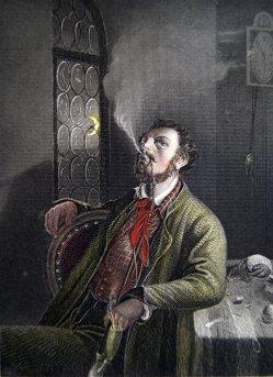 1893 Auszug Schmollendes Ehepaar