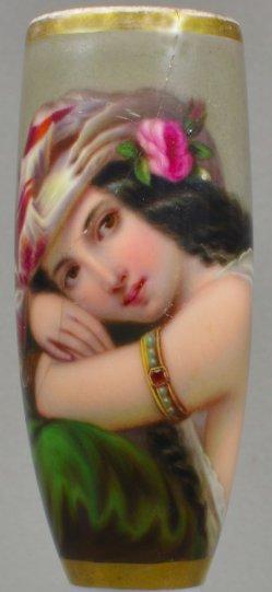 Constant Joseph Brochart (1816-1899), Die Perle des Harems, Porzellanmalerei, Pfeifenkopf, D1088