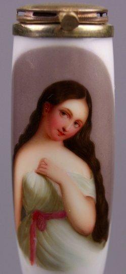 Edmund Thomas Parris (1793-1873), Aruga, Porzellanmalerei, Pfeifenkopf, D1167