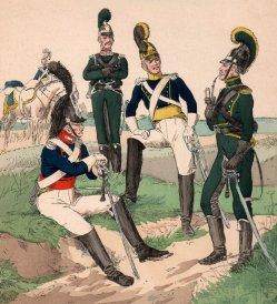 1767 Auszug Württembergische Reiterei