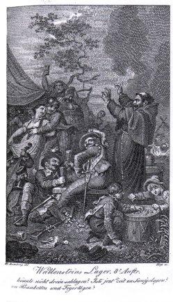 Karl Ernst Christoph Heß (1755-1828), Kupferstich, Wallensteins Lager, nach Ramberg, A0001