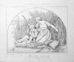 Angelnde Kinder, nach Schütze, Kupferstich, D0972