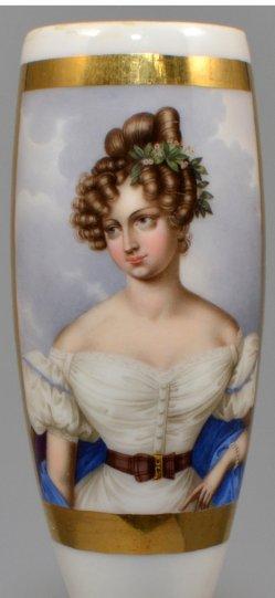 Franz Xaver Stöber, Karoline Bauer, Porzellanmalerei, Pfeifenkopf, D1045
