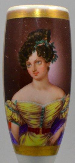Franz Xaver Stöber, Karoline Bauer, Porzellanmalerei, Pfeifenkopf, D1120D1120-0 Malerei Caroline Bauer