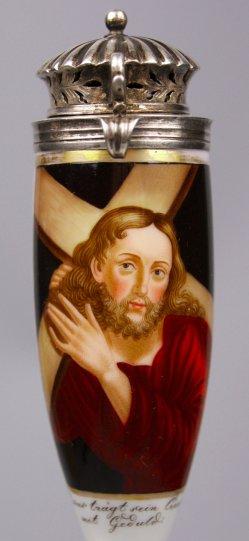 1562-0 Malerei  Jesus mit Kreuz