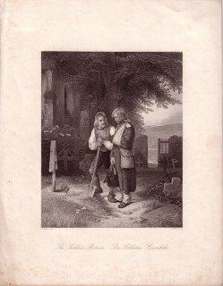 Albert Henry Payne (1812 – 1902), Des Soldaten Heimkehr, Stahlstich nach Jakob Becker, D1564