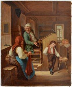 Marc Louis Benjamin Vautier (1829-1898), Kopie nach, Gemälde, Das ist ein Taugenichts, D1692