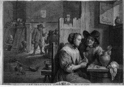 "J. Tardieu, Kupferstich, ""Le des Jeuner Flamand"", nach D. Teniers II, D2086"