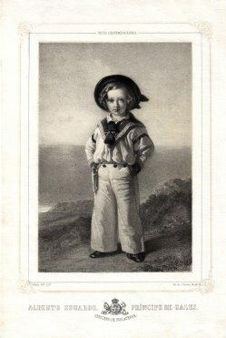 J. Donon (Madrid), Albert Edward, Prince of Wales, Lithographie nach F.X.Winterhalter, D1811