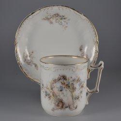 Buckauer Porzellanmanufaktur, Tasse und Untertasse, 1890-1897, D0665-053-13