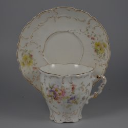 Buckauer Porzellanmanufaktur, Tasse und Untertasse, 1897-1904, D0603-113-15