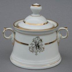 Buckauer Porzellanmanufaktur, Zuckerdose um 1900, D0708-167-23
