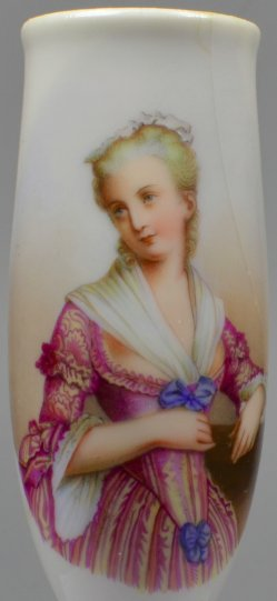 Erwartungsvoller Blick, Porzellanmalerei, Pfeifenkopf, D1705