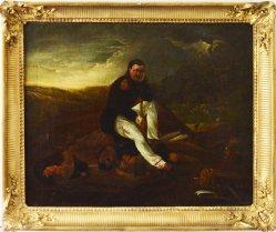 Klagender Grenadier nach Horace Vernet (1789 – 1863), Gemälde, D1698