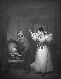 KPM 281 - Mutterfreuden, nach Charles Robert Leslie, Lithophanie