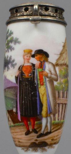 Trachtenpaar, Porzellanmalerei, Pfeifenkopf, D2044