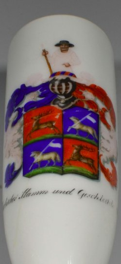 Wappen mit Marke, Porzellanmalerei, Pfeifenkopf, D1664