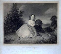 Albert Henry Payne  (1812 – 1902), Stahlstich, Der erste Freund, nach F.X. Winterhalter, D1661