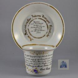 Buckauer Porzellanmanufaktur, Freundschaftstasse und Untertasse 1850, D0553-070-00