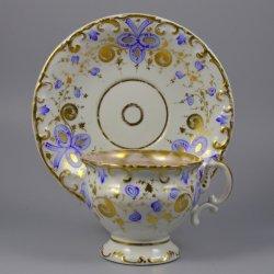 Buckauer Porzellanmanufaktur, Tasse und Untertasse um 1860, D0614-120-00