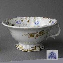 Buckauer Porzellanmanufaktur, Tasse und Untertasse um 1860, D0656-141-00_