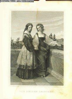 Cristian Hoffmeister (1818-1871), Stahlstich, Die beiden Leonoren nach C. Sohn, A0058