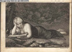 Carl August Schwerdgeburth (1785-1878), Kupferstich, Maria Magdalena, nach Correggio, A0071