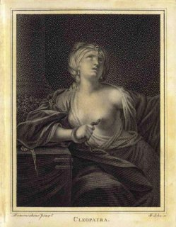 Friedrich John (1769-1843), Kupferstich, Cleopatra, nach Domenichino,A0067