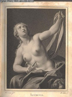 Friedrich John (1769-1843), Punktierstich, Lucretia, nach Trevisani, A0070
