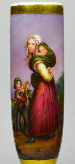 Ary Scheffer (1795 – 1858), Soldatenwitwe, Porzellanmalerei, Pfeifenkopf, D2047