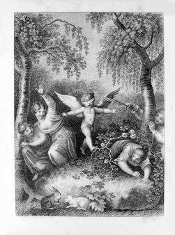 Friedrich Jury (1763-1829), Kupferstich, Blinde Kuh, nach Ramberg, A0087