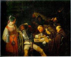 Karl Schorn (1803-1850), Gemälde, Kartenspieler (Variante 1)