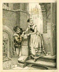 Auguste Hüssener (1789-1877), Kupferstich, Das Rendezvous, A0081