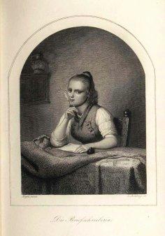 Lazarus Gottlieb Sichling (1812-1863), Die Briefschreiberin, nach Meyer, A0076