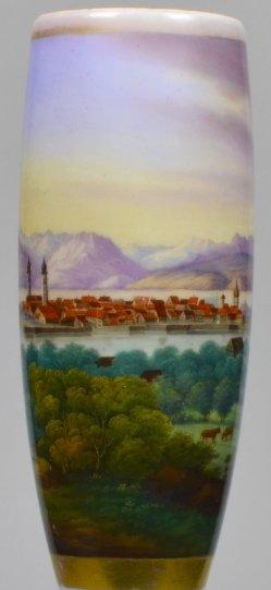 Lindau am Bodensee 1841, Porzellanmalerei, Pfeifenkopf, D1979