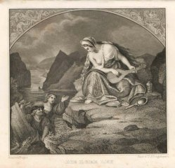 Timothy Stansfield Engleheart (1803-1879), Stahlstich, Die Lorelei, nach Begas, A0072