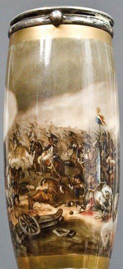 Albrecht Adam (1786-1862), Erstürmung Rajewski-Schanze, Porzellanmalerei, Pfeifenkopf, D0016