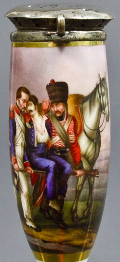 Albrecht Adam (1786-1862), Vor Smolensk, Porzellanmalerei, Pfeifenkopf, B0024