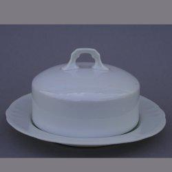 Buckauer Porzellanmanufaktur, Butterschüssel mit Haube um 1900, D0806-018-00