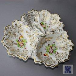 Buckauer Porzellanmanufaktur, Cabaret dreipassig um 1846, D0705-166-00
