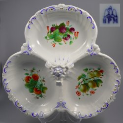 Buckauer Porzellanmanufaktur, Cabaret, dreipassig um 1860, D0869-233-00