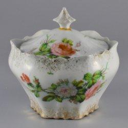 Buckauer Porzellanmanufaktur, Deckeldose, groß um 1900, D0831-228-29