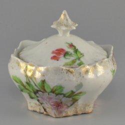 Buckauer Porzellanmanufaktur, Deckeldose, klein um 1900, D0830-228-29