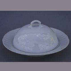 Buckauer Porzellanmanufaktur, Käseteller mit Haube um 1900, D0805-038-00