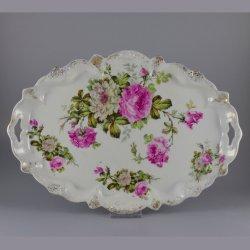 Buckauer Porzellanmanufaktur, Tablett, oval um 1900, D0827-225-29